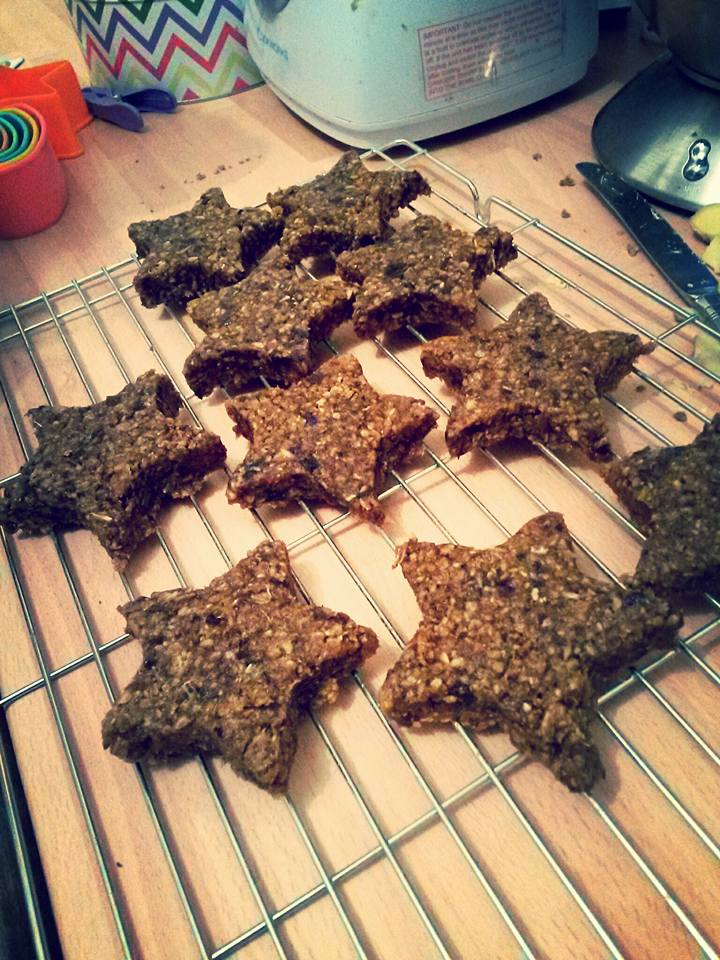 Ginger Bread Christmas Cookies, made from dates, dried mulberries and fresh ginger.